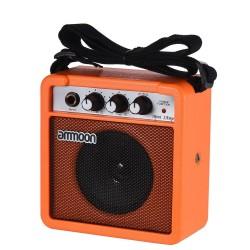 Mini amplificador portátil de 5 W y altavoz para guitarra y ukelele - batería incorporada