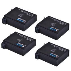 Batería 1680mAh AHDBT- 401 para GoPro Hero 4 Action-Camera - 4 piezas
