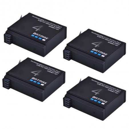 1680mAh AHDBT- 401 battery for GoPro Hero 4 Action-Camera - 4 pieces