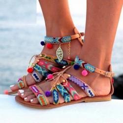 Etniczne - bohemian - letnie sandały