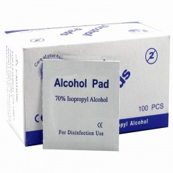 Tampons tampons alcool - lingettes antiseptiques 100 pièces