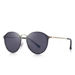 Retro owalne okulary przeciwsłoneczne - ochrona UV - unisex