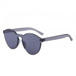 Transparentne - plastikowe okulary przeciwsłoneczne - unisex