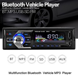 12V Bluetooth - AUX-IN MP3 FM-USB - 1Din - pilot zdalnego sterowania - stereo audio radio samochodowe