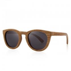 Retro - ręcznie robione drewniane okulary przeciwsłoneczne - unisex