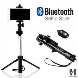 Tripod Bluetooth selfie stok met een ontspanknop voor smartphone