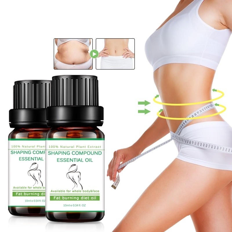 Natural essential massage oil - slimming - fat burning - 2 pcs