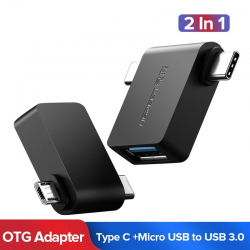 Ugreen 2 w 1 OTG adapter kabel - micro USB - typ C do USB