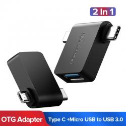 Ugreen OTG Cavo Adattatore 2 in 1 Micro USB di Tipo C a USB 30 Adattatore OTG Converter Per Samsung