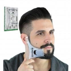 Grzebień szablonowy do modelowania brody