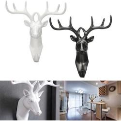 2017 neue Tier Deer Stags Kopf Haken Wand Kleiderbgel Rack Halter Harz Dekorative Montiert Kleiderb