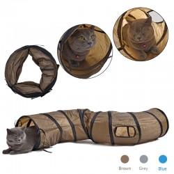 S Kształt - składany tunel dla kotów & zwierząt domowych - zabawka