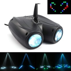 Aktywacja automatyczna & dźwiękowa - 128 LED RGBW - lampa laserowa - projektor
