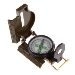 Przenośny składany wojskowy kompas z zieloną soczewką
