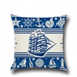 1 piezas ancla del barco mar serie Azul de lino de algodn almohada cojn decoracin del hogar Decor