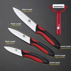 Zestaw noży ceramicznych z obieraczką