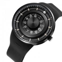 Obrót kulki - zegarek kwarcowy ze stali nierdzewnej z silikonowym paskiem