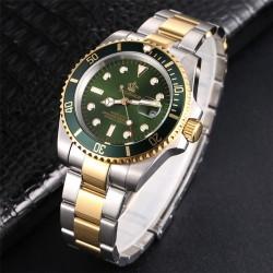 Luxe herenhorloge - draaibare bezel - saffierglas - roestvrij stalen horloge