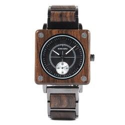 Nowoczesny zegarek kwarcowy z drzewa sandałowego