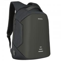 Sac à dos antivol avec chargement USB - étanche - sacoche pour ordinateur portable de 15,6 pouces