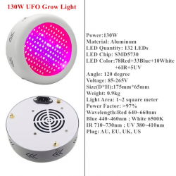 130W - 150W - 216W - 300W LED grow light lamp AC85~265V - full spectrum