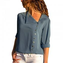 Elegante blusa in chiffon a maniche lunghe