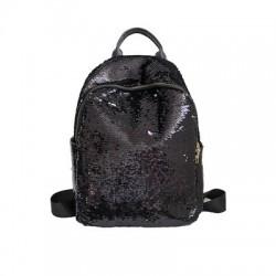 Brokatowy plecak z cekinami zmieniającymi kolor