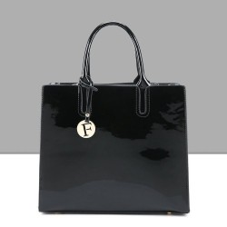 Elegant shiny leather bag