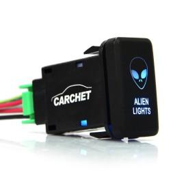 Przełącznik kołyskowy SPST 12V-24V - alien światło dla Toyoty