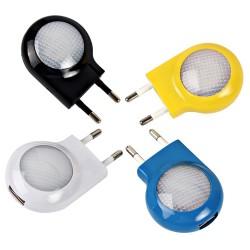 LED - mini światło ścienne z ładowarką USB - wtyczka EU