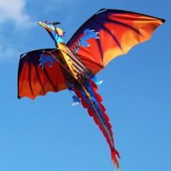 3D smok - latawiec z ogonem i linią 100m