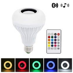 Inteligentna lampa LED RGB z bezprzewodowym głośnikiem Bluetooth - pilot zdalnego sterowania