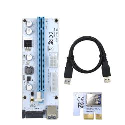 3 in 1 Molex 4pin SATA 6pin PCI express PCIE PCI-E riser card