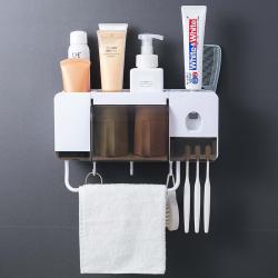 Toothbrush holder toothpaste squeezer dispenser bathroom accessories sets