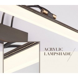 American style bathroom mirror light - copper - black - 8W Led wall light - lamp 39 cm
