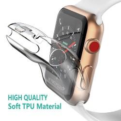 Ochronna ultra cienka przezroczysta obudowa TPU HD do Apple Watch 4-3-2-1 - 38mm - 40mm - 42mm - 44mm