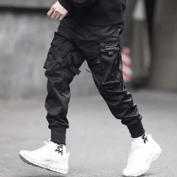 Men Multi-pocket Harem Hip Pop Trousers