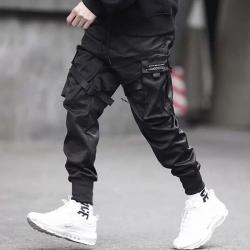 Wielo-kieszeniowe spodnie hip-hopowe