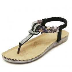 Cuculus Frauen Sandalen Flache mit Bling Strass Mode Flip Flop Hohe Qualitt Bhmen Strand Schuhe Fr
