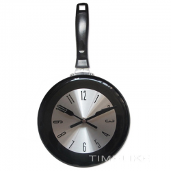 Metal wall clock in the shape of a pan 8-10-12 inches