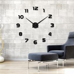 Zegar ścienny 3D - lustrzana akrylowa naklejka