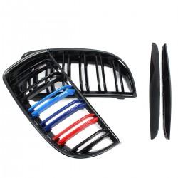 Gloss & matt M color 2 line front kidney grille for BMW