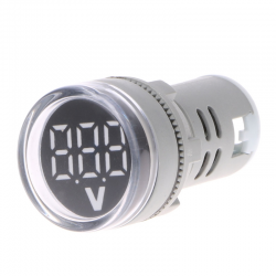 Indicatore tensione 60-500V AC 22mm LED digital display - gauge voltaggio
