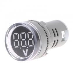 Voltàmetro 60-500V AC 22mm LED digital display - gauge voltage