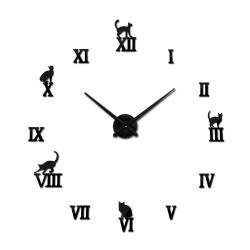 3D dekoracyjny zegar kwarcowy z cyframi rzymskimi