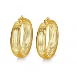 Hollow gold hoops - stainless steel earrings