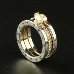 Elegancki pierścionek z austriackim kryształem