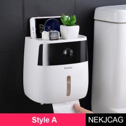 Waterproof wall mount toilet paper phone holder