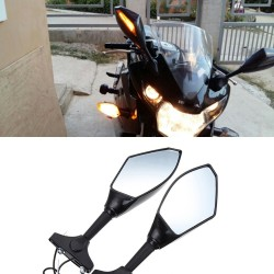 Evomosa Motorfiets Achteruitkijkspiegel Spiegels LED Turn Signals Verlichting voor Hyosung GT125R GT