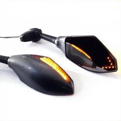 Espejos para moto con intermitentes LED 2 pcs